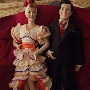 Mr & Mrs Ricardo 22' porcelain dolls
